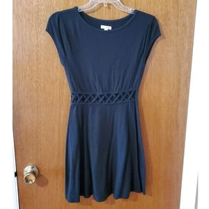 Black Mini Dress with Cutouts - Never Worn